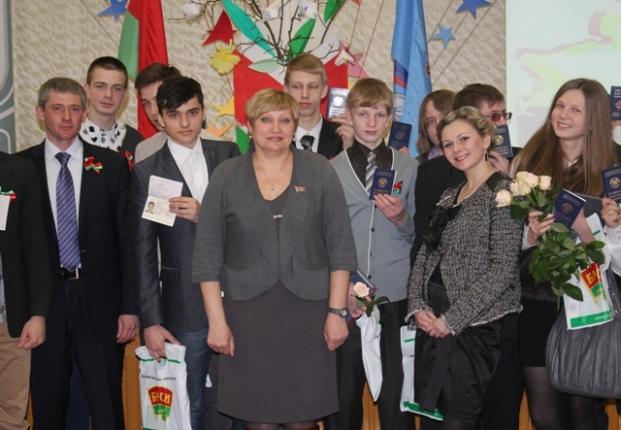 Вручение паспортов в гимназии №75